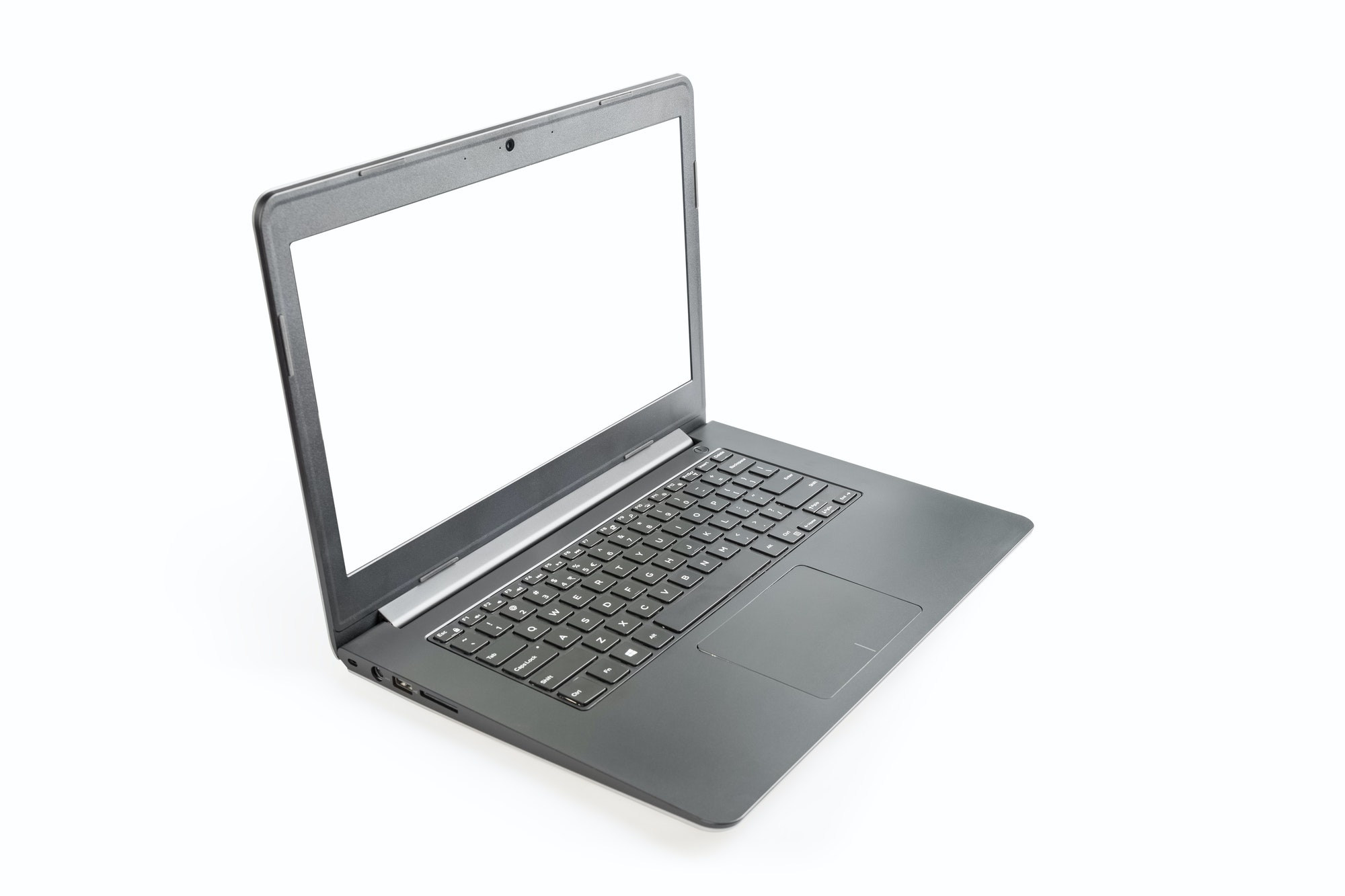 laptop isolated with blank screen